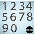 Set number road asphalt texture vector image vector image