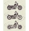 Set vintage motorcycle badges