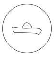 sombrero icon black color in circle vector image