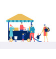street food festival - flat design style colorful vector image vector image