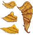 Tattoo style wings illustrations colle vector | Price: 1 Credit (USD $1)