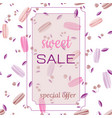 template for sweet sale vector image