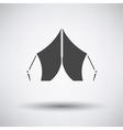 Touristic tent icon vector image vector image