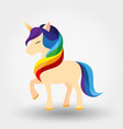 unicorn rainbow mane icon vector image vector image