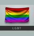 waving rainbow flag of lgbt community vector image