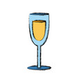 wine glass cup drink alcohol icon vector image vector image