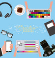 working process tools vector image vector image