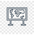 World map concept linear icon isolated on