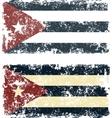 Old scratched flag vector image