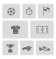 monochrome set with soccer icons vector image