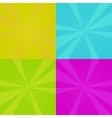 set of pop art backgrounds vector image