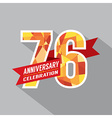 76th Years Anniversary Celebration Design vector image vector image