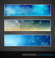 Abstract Banner With Bokeh vector image vector image