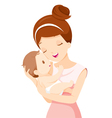 Baby In A Tender Embrace Of Mother vector image vector image