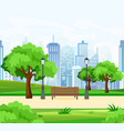 beautiful public city park vector image vector image