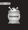 black and white style icon halloween potion vector image vector image