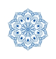 Blue Flower Mandala Over White vector image vector image