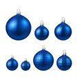 blue isolated christmas balls set vector image vector image