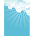 Blue sky with beautifull clouds image vector image vector image