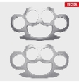 Brass knuckles vintage halftone style vector image vector image