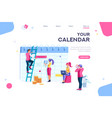 calendar data graphs database vector image vector image