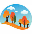 Cartoon forest vector | Price: 1 Credit (USD $1)