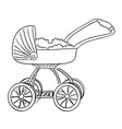cartoon image of stroller icon pram symbol vector image vector image