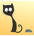 Cat watching a mouse vector image vector image