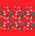 christmas pattern seamless background vector image vector image
