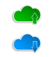cloud computing and file sharing vector image