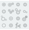 Cogs wheels and gears pictograms vector image vector image