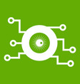 cyber eye symbol icon green vector image