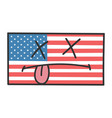dead american flag cartoon vector image vector image