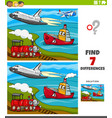 differences educational game with transport vector image vector image