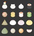 dim sum cantonese food vector image vector image