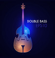 double bass music instrument with light effects vector image