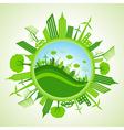 Eco cityscape vector image vector image