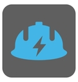 Electrician Helmet Rounded Square Icon vector image