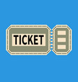 entrance ticket with tear-off strip flat style vector image