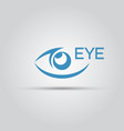 eye isolated abstract icon vector image vector image