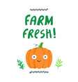 farm fresh had drawn vector image