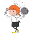 Female chef in uniform vector image