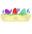 flower box easter eggs lavender vector image vector image