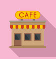 french street cafe icon flat style vector image vector image