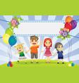 fun family banner vector image