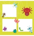 Funny insects set Spider butterfly caterpillar vector image