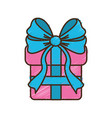 gift present with ribbon decoration to celebrate vector image vector image
