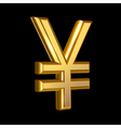 Golden Yen sign vector image vector image