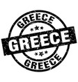 greece black round grunge stamp vector image vector image