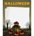 Halloween theme with graveyard vector image vector image